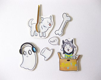 Undertale Magnet Sets - Napstablook, Temmie and Annoying Dog