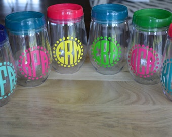girls weekend acrylic wine glasses plastic travel tumbler cup with lid colorful