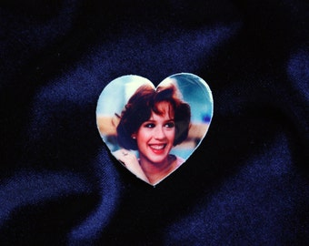Molly Ringwald Brooch, Breakfast Club Brooch, 80s Movie Pin