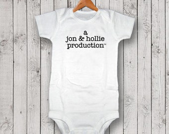 Personalized A Production Bodysuit, One Piece, T-Shirt, Baby Shower Gift, New Baby Gift, Baby Gift, Pregnancy Announcement