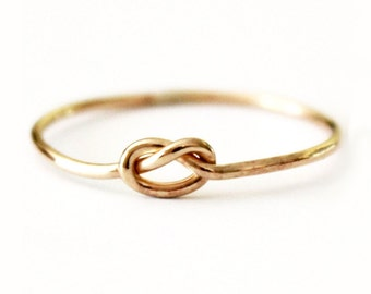 Dainty True Lover's Knot Ring - 14K Gold Filled Love Knot  - 925 Sterling Silver - Knot Ring - Promise - Friendship - Best Friend