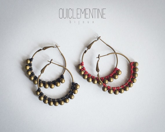 Gipsy red earrings