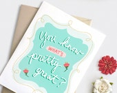 Graduation Card Funny, Floral Pretty Great Birthday Card, Mothers Day Card Funny, Congratulations Card, Illustrated