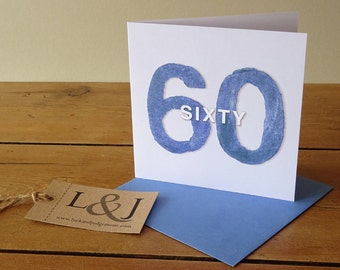 Sixtieth Birthday, 60th Birthday Card, Sixty Birthday, 60 Birthday, Sixtieth, 60 Birthday Gift, 60th Birthday, Sixty, 60th Birthday Gift