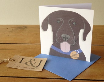 Dog Greetings Card - Dog Lover Card - Dog Thank You Card - Dog Lover Gift - Dog Greeting Card - Dog Card - Funny Dog Card - Dog Themed Card