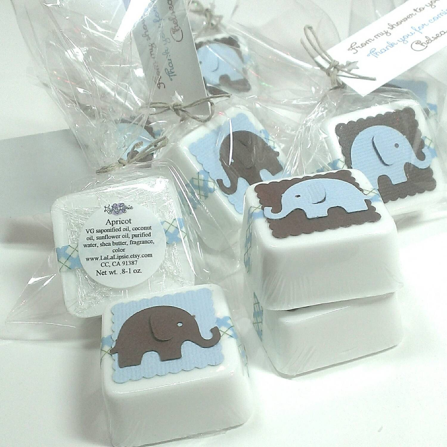 Elephant baby shower favors shower favor soaps favors boy - Popular boy baby shower themes ...