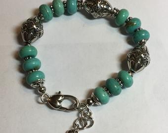Brighton Turquoise Beaded Bracelet Southwestern