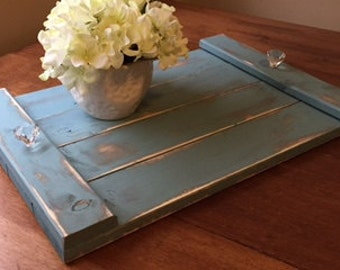 Rustic Shabby Chic Wooden serving tray