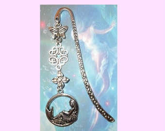 MERMAID Silver Bookmark Book Mark Pendant Mythology Mythological Creature Sea