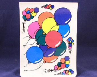 "Vintage BJ 6"" by 8"" Unsealed Balloon Sticker Sheet."