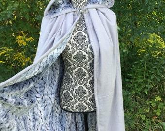 SALE 15% OFF Knee Length Fur linned Flannel Cloak- Renaissance, Cosplay, Medieval, LARP, Comic, Halloween