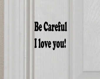 Wall decal, I love you decal, home decor, door decal, FREE SHIPPING, vinyl decal #123