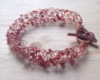 Copper wire mesh bracelet
