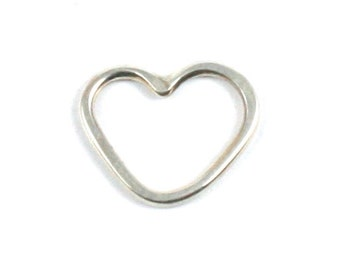 Solid Silver 925 Handmade 1.5mm Heart Charm