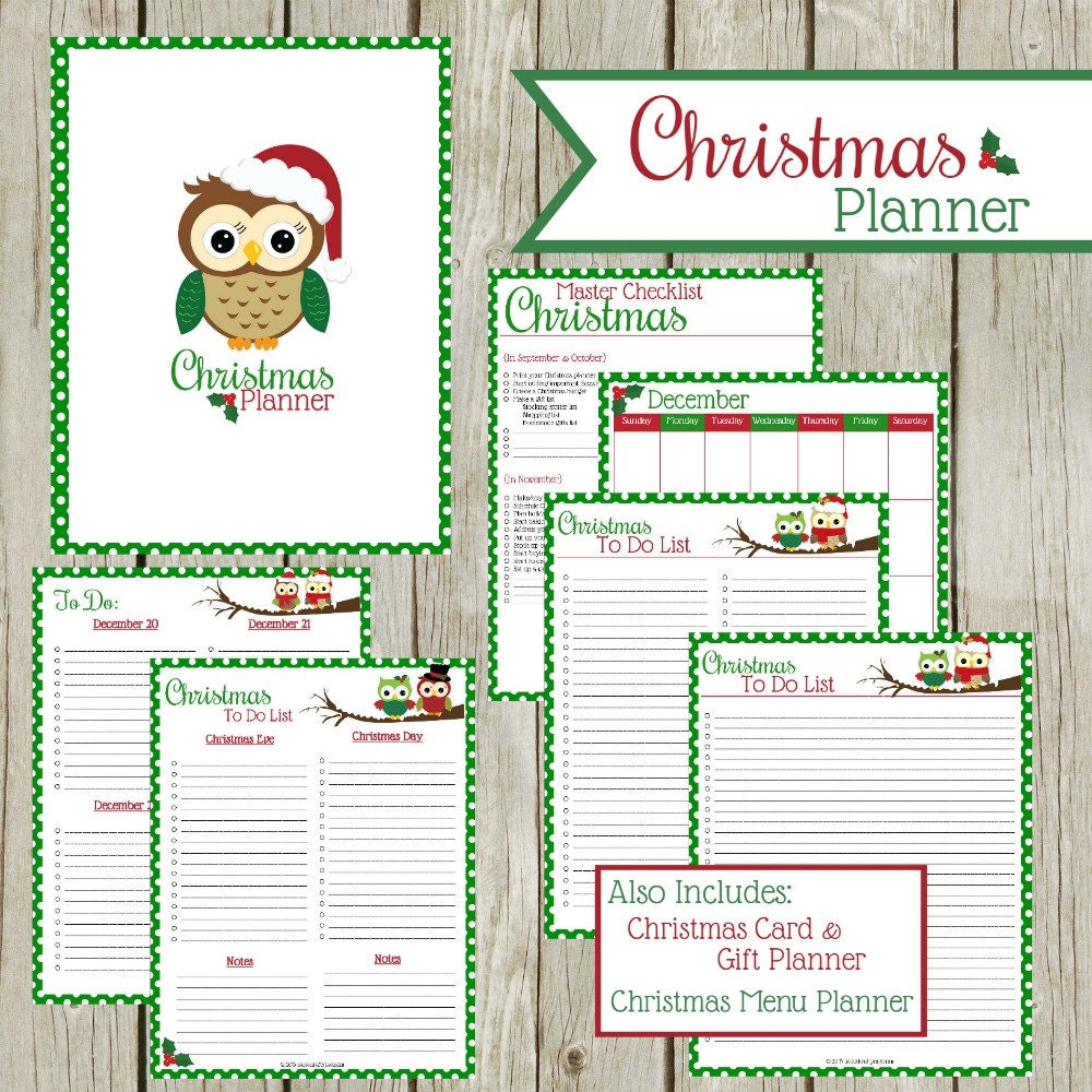 Enterprising image with christmas planner printable