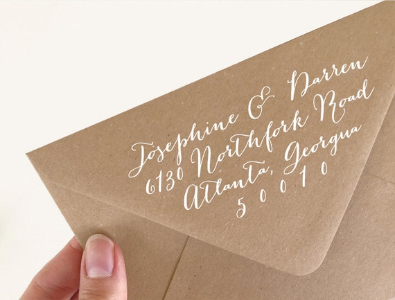 Personalized Rubber Stamps For Wedding Invitations: Return Address Stamp. Wedding Invitation Stamp. Return