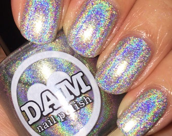Holographic Nail Polish - Silver Nail Polish - Indie Nail Polish - Spring Colors - Linear Holographic Polish - Memorial Day