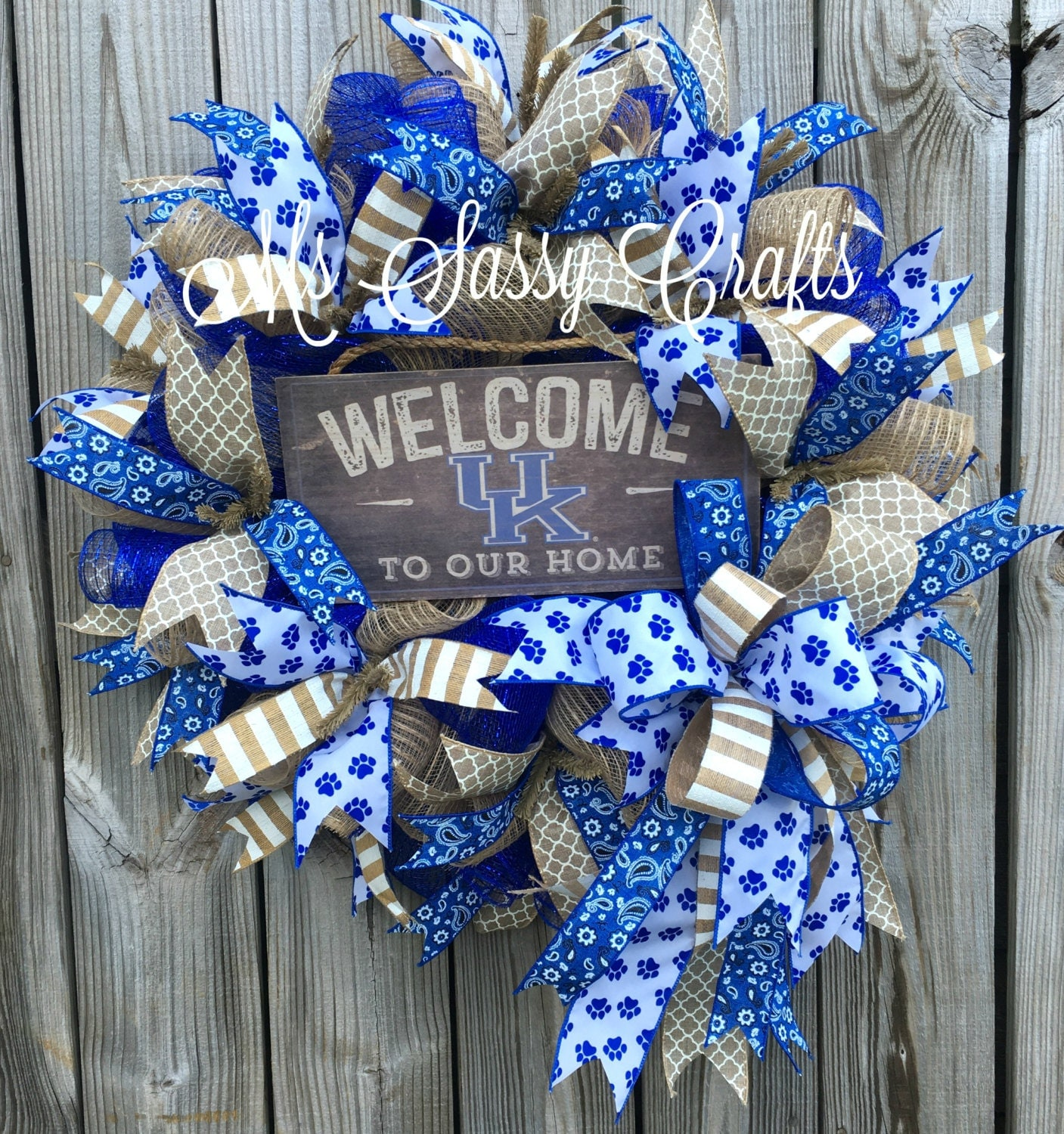 Kentucky Wildcats Wreath University Of Kentucky Wreath