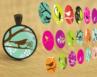 Bird Silhouette, Nature Jewelry, Spring Pendants, Modern Necklace