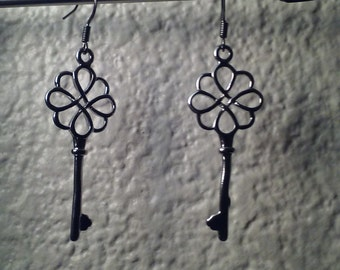 Key Earring and Necklace Set