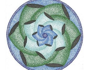 mandala twisted flower