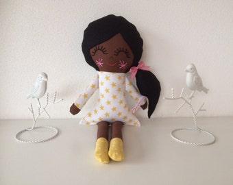 Miss Isa doll, soft doll, rag doll, handmade doll, custom made doll, fabric doll