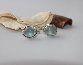 TOP SELLER: Aquamarine Cufflinks set in sterling silver