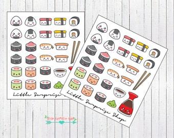 Kawaii Sushi Stickers