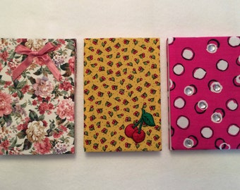 Fabric-Covered Notepads - Large - FREE U.S. SHIPPING