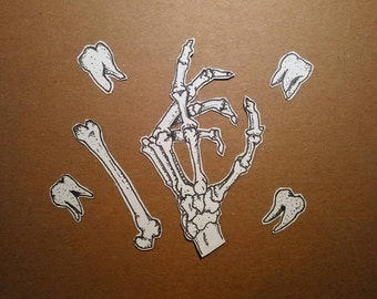 Teeth and Bones Sticker Set