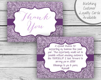 Double-Sided THANK YOU CARD, Direct Sales Inspired Customer Thank You Post Card, Business Cards, Professional Printing, Cosmetics