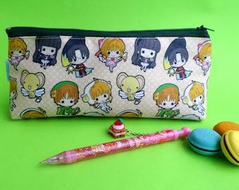Cute Card Captor Sakura Pencil Case Zipper Pouch Bag Pen Box School Anime Syaoran Kero