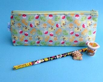 Cute Pokemon Pencil Case Zipper Pouch Bag Pen Box School Anime Pikachu Charmander Bulbasaur Squirtle