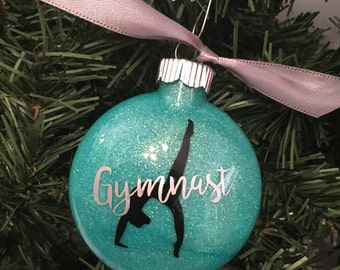 Gymnast, Gymnastics Christmas Ornament