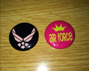 Air Force magnets pink set of two