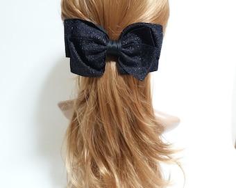 Handmade Glittering Bow French Hair Barrettes Big Bow Women Hair accessory free shipping