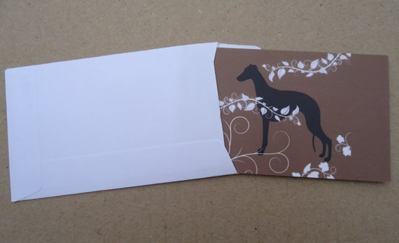 greyhound gift card whippet greyhound themed gift cards with envelopes 4 cards 5396