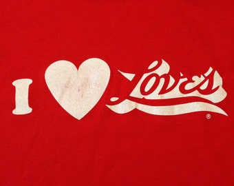 80's I Heart Love's Tee - Made in the USA - XL