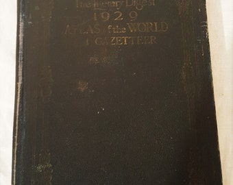 World Atlas Literary Digest 1929 Atlas of the World and Gazetter, P.F. Collier and Sons, 1920's World Atlas, DIY Atlas, DIY Craft