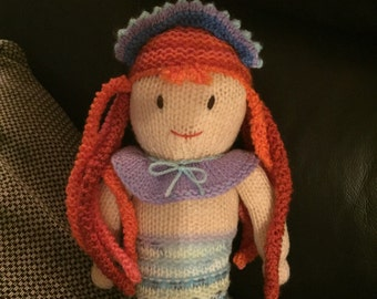 Hand knitted mermaids  - can be made to order