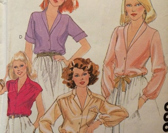 Misses Set of Vintage Blouses with Handkerchief McCalls 6367
