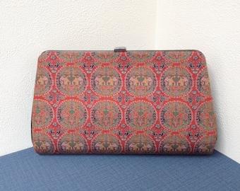 Vintage Japanese Kimono Clutch Bag , silk kimono texitle