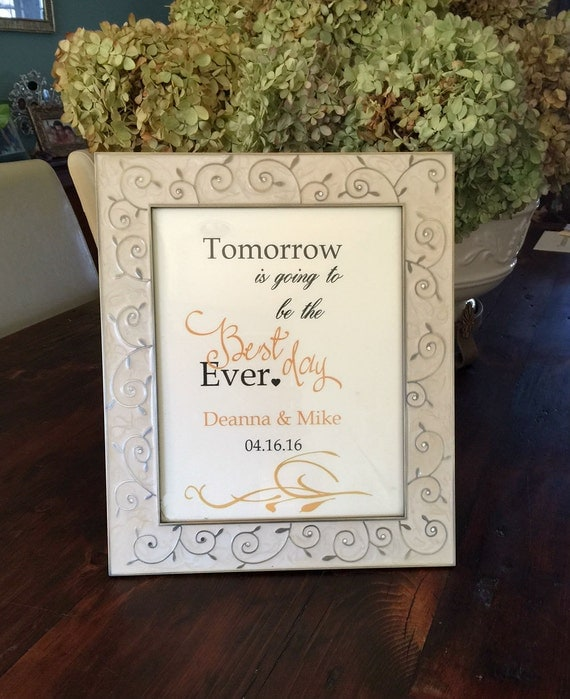 Wedding Welcome Dinner Invitation Wording: Wedding Rehearsal Dinner Poster Or Sign Tomorrow Is Going To