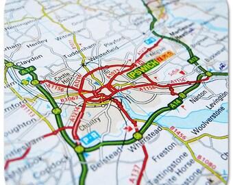 Ipswich Map Coasters