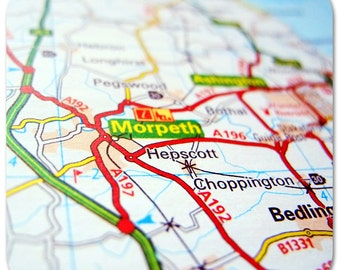 Morpeth Map Coasters