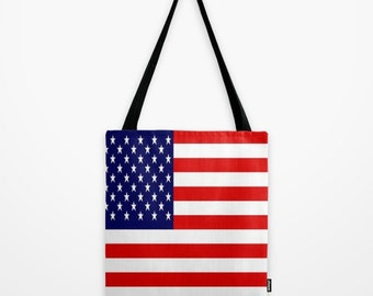 USA flag Tote USA Canvas Bag United States of America Tote  US Canvas Bag Stars Stripes Tote Bag Red White and Blue Tote Bag United States