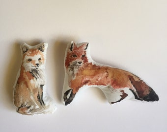 fox plushy, fox pair, fox plush, plush fox, fox stuffed animal. woodland nursery decor, woodland plush toy, woodland decor