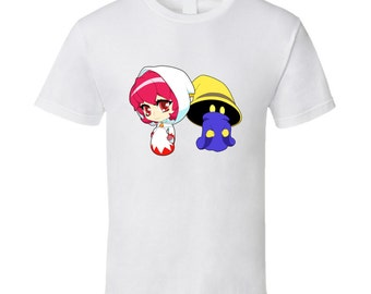 Final Fantasy - White Mage and Black Mage - White T-Shirt