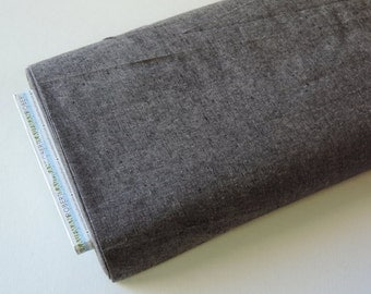 Yarn Dyed Linen by Robert Kaufman in Charcoal