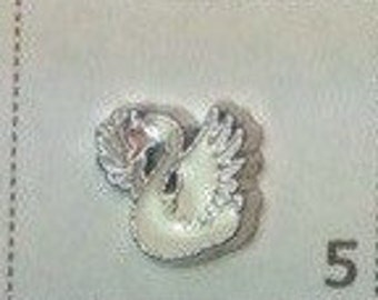 Swan BIRD floating charm